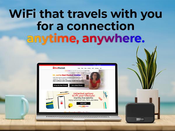 take wifi with you - view hotspot below