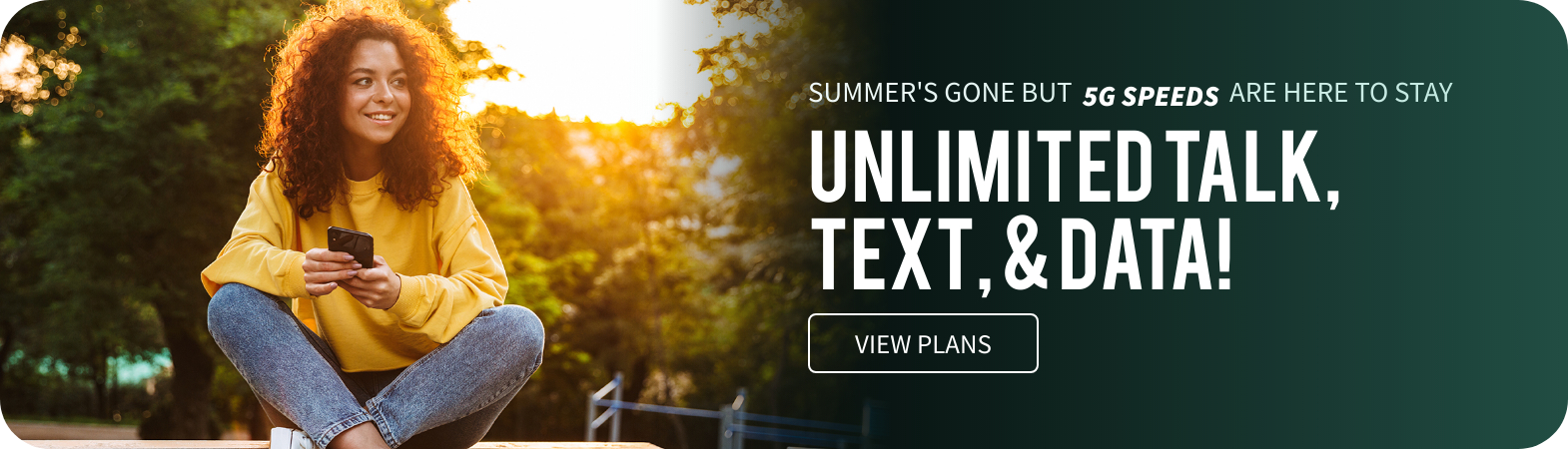 home page unlimited plan advertisement
